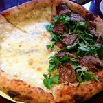Five cheese and Beef Soy Garlic Pizza
