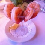 Amazing shrimps at the Commodore! Delicious!