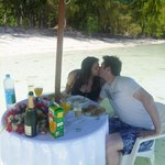Lunch on the motu in Bora Bora