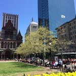 Hotel overlooking Copley Square