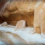 sculptures along the siq one can only imagine in all its glory how it must have looked and welco