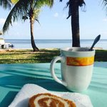 Coffee (& our pumpkin roll) with a view!