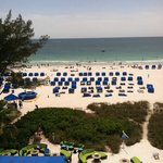 This is taken from our suite on the 6th floor, straight out at the beautiful Gulf of Mexico