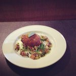local crab & lobster pattie with tomato & coriander salsa, from the special board ��