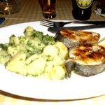 saumon grillé au restaurant