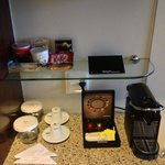 Minibar corner with free coffe