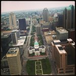 The Old Courthouse and St. Louis, from atop the Arch.