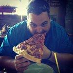 Huge slice of pizza