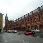 St Pancras Station is a five minute walk away