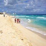 Beautiful beach and Beach Palace