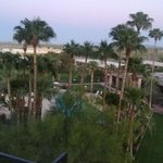 The view from our balcony - Pool and Restaurant
