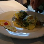 Eggs Hollandaise over Crab Cakes