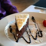 Coconut Macaroon Double Chocolate Cheesecake
