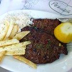 Grilled calf liver