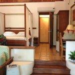 Full suite w/ seating area, desk and mini-fridge