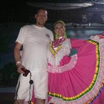 Photo taken after an exceptional Folklorico show at Viva Wyndham Maya! So very satisfied with ou