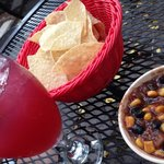 Sangria, chips, and delectable salsa!