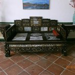 Mother of Pearl Opium Smoking Bed