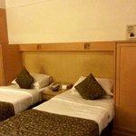 The beds, wardrobe and safe at VITS, Mumbai