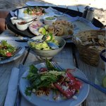 Fantastic Fish Tacos, Guacamole, Watermelon Salad
