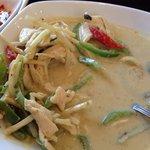 Chicken green curry.