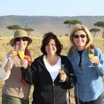 Champagne toast in the bush!!