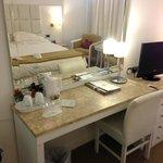 In room amenities.
