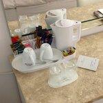 Tea coffee facilities in room.
