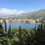 Cavtat Marina view from breakfast at hotel