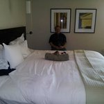 Enjoying the King Bed