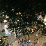 The night on La Rambla