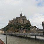 Vista da chegada ao Mont Saint-Michel - caminhada