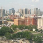 Dealey Plaza and the Texas School Book Depository Bldg.