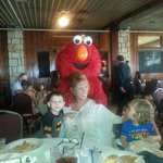 Elmo visiting our table on Mother's Day