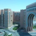 View from the Gym Window of the Ibn Batutta Gate