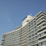 The iconic design of the Amsterdam Hilton.