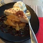 Speculous cheesecake with apples! Also the best whipped cream I've ever had!!!