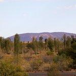 Udsigt til Uluru fra Desert Gardens Hotel
