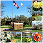 a collage of spring views at Cantigny