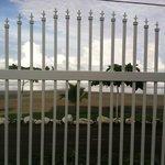 from inside ocean side gate towards beach