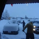 Much snow in March 2014 - great hotel but no underground heated parking. check the room rental p
