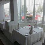 a nice   corner  of  restaurant