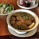 Pho with Meatballs.