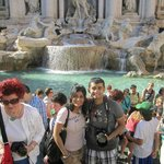 Us in front of Trevi Fountain