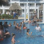 The swim-up bars were always crowded and noisy