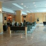 The lobby at the Radisson.
