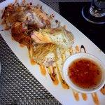 lobster & shrimp cold rolls