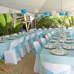 Wedding set up right on the beach...