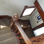 The steep, winding stairway