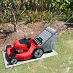 Lawn Mower made with 13,704 bricks